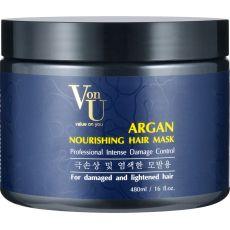 VonU Argan Маска для волос питательная с аргановым маслом 480 мл, фото