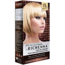 Richenna 11L Крем-краска для волос с хной (Bleaching Blonde), Оттенок: 11L (Bleaching Blonde), фото