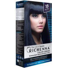 Richenna 1B Крем-краска для волос с хной (Blue Black), Оттенок: 1B (Blue Black), фото