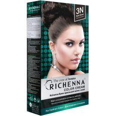 Richenna 3N Крем-краска для волос с хной (Dark Brown), Оттенок: 3N (Dark Brown), фото