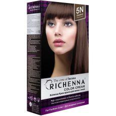 Richenna 5N Крем-краска для волос с хной (Chestnut), Оттенок: 5N (Chestnut), фото