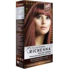 Richenna 6MB Крем-краска для волос с хной (Mahogany), Оттенок: 6MB (Mahogany), фото