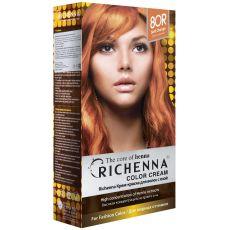 Richenna 8OR Крем-краска для волос с хной (Soft Orange), Оттенок: 8OR (Soft Orange), image