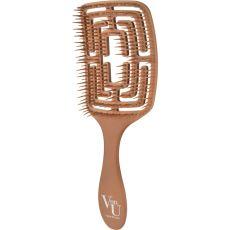 Hairbrush Von-U Spin Brush, gold, image
